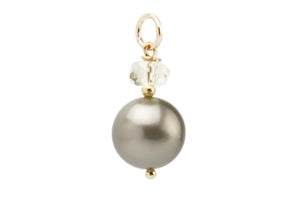 Tahitian pearl and Oregon Sunstone gold pendant