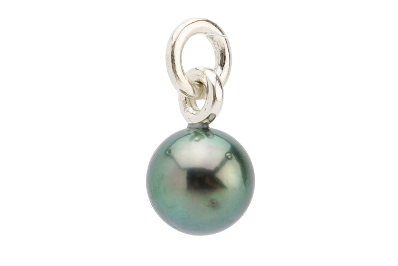 Bright Peacock Green Round Pearl Pendant