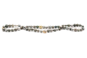 Tahitian pearl mixed harvest strand necklace Kamoka