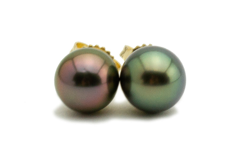 Festive Tahitian Pearl Stud Earrings