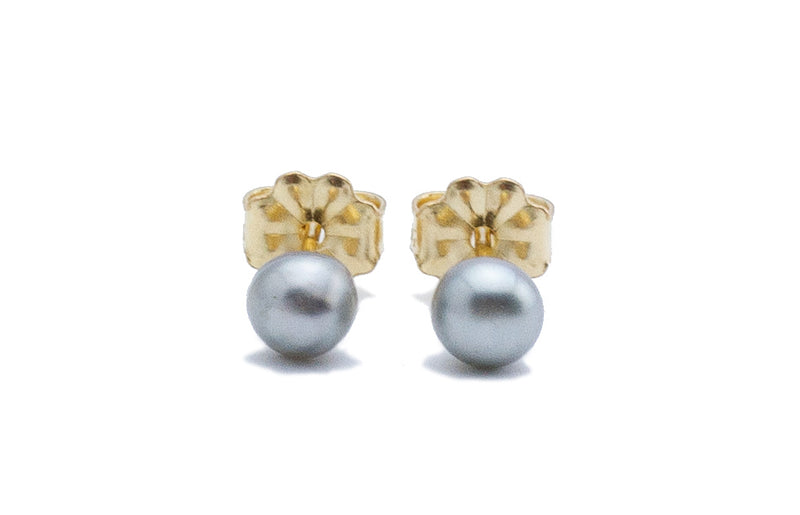 Tiny dainty Tahitian keshi pearl stud earrings