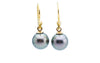 Bird of Paradise Tahitian Pearl 18KP Earrings