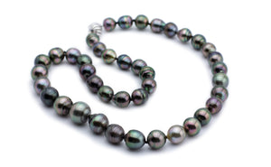 Lavender-Green Dream Tahitian Circled Pearl Strand