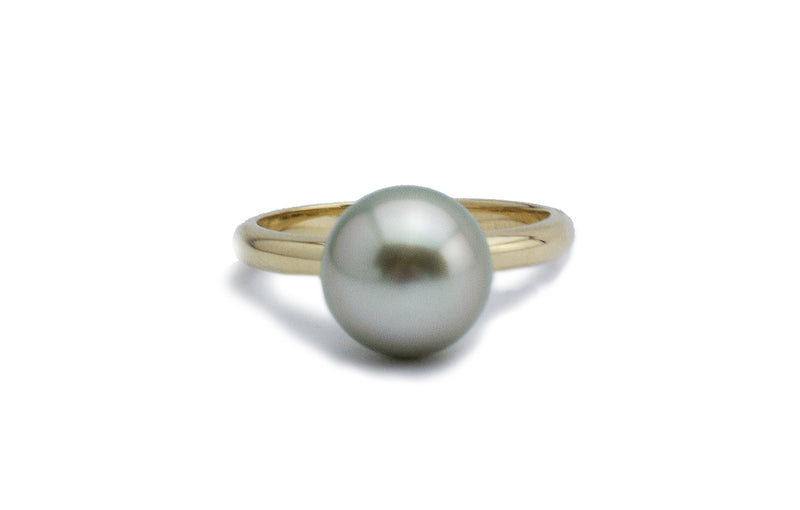 Lightest Pistachio Tahitian Pearl Ring
