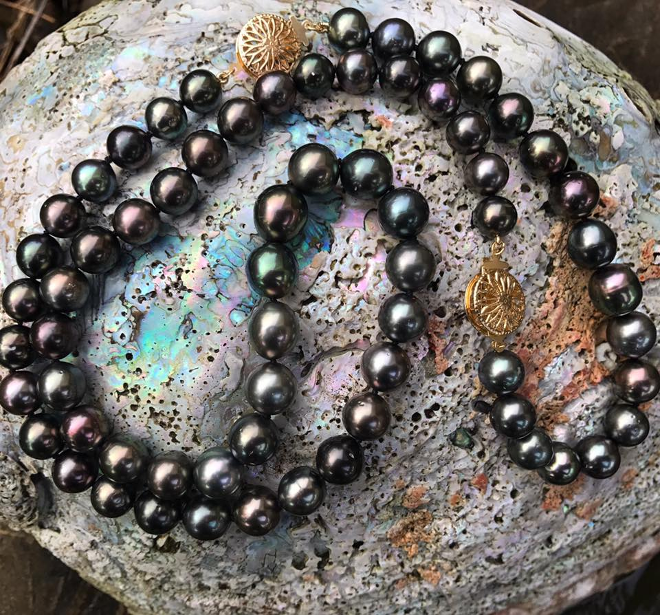 Tahitian Starry Night Pearl Bracelet