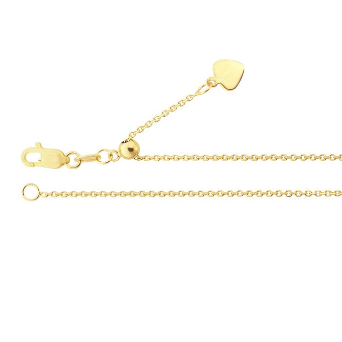 14K Yellow Gold Adjustable Chain