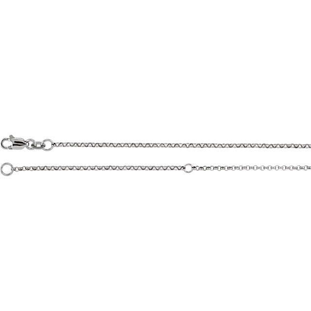 "Sterling Silver 1.5mm Adjustable Diamond Cut Rolo 18-20"" Chain"