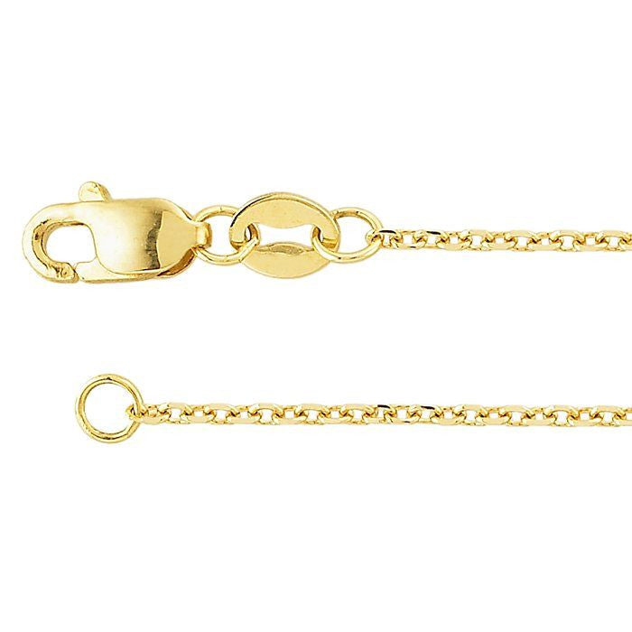 14K Gold Beveled Cable Chain