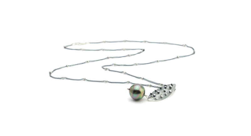Circles & Dots Tahitian Pearl Necklace