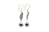 Circles & Dots Tahitian Pearl Dangle Earrings