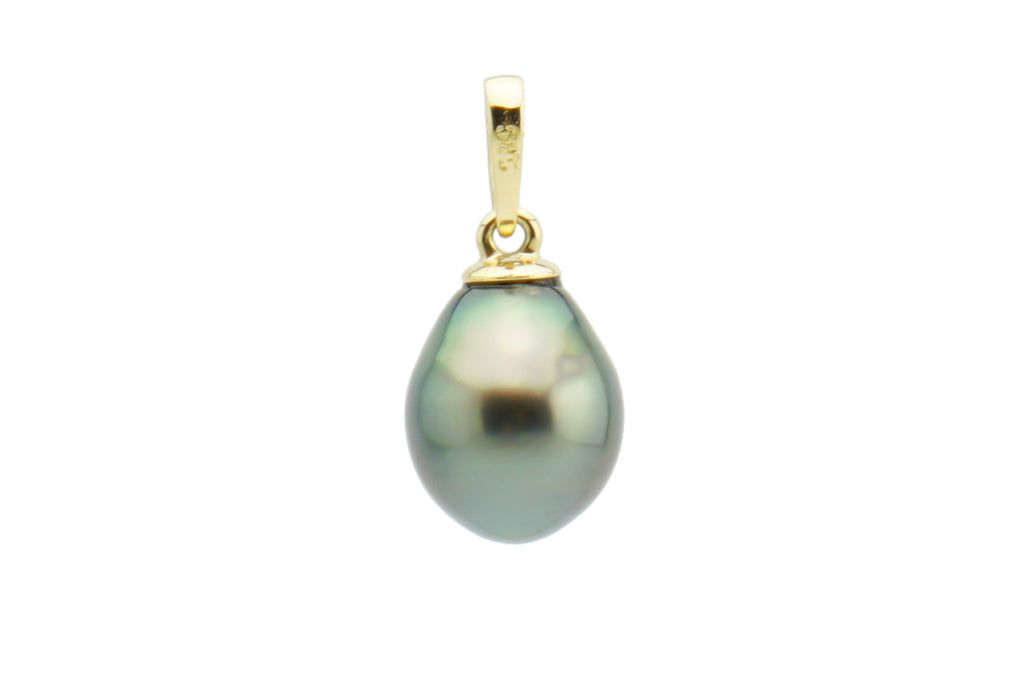 Pointed drop Tahitian pearl pendant