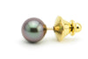 Blue purple Tahitian pearl tie tack lapel pin for men
