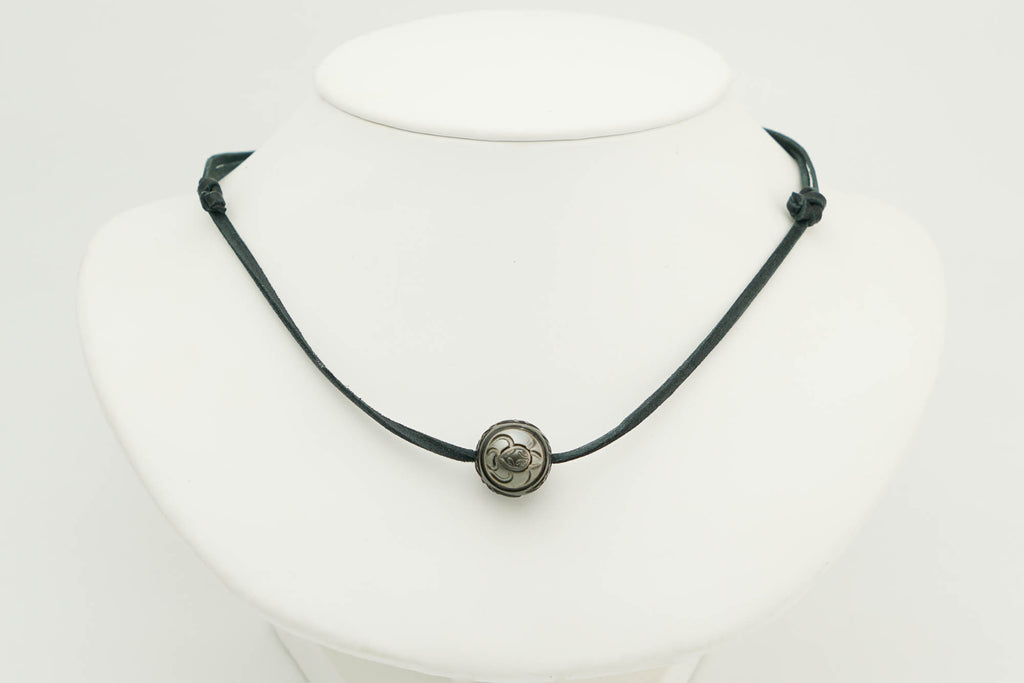 Kamoka Turtle Death Star Carved Pearl Necklace