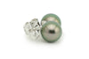 Petite Dark Green 8mm Tahitian Pearl Stud Earrings