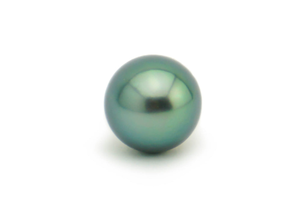 Blue green peacock Tahitian pearl 10.5mm