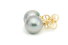 Light Pink Statement 10.4mm Tahitian Pearl Stud Earrings