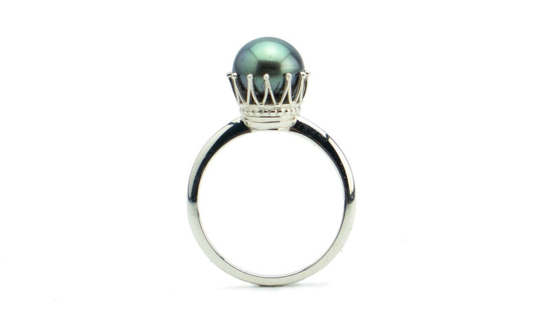 Royal Green Rainbow Tahitian Pearl Ring