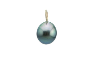 Blue-Green Drop Tahitian Pearl Pendant