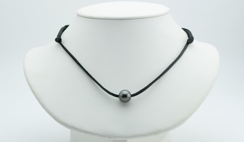 11.2mm Dark Green Super Mana Necklace