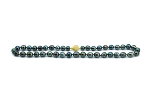 Glorious Greens Tahitian Circled Pearl Strand
