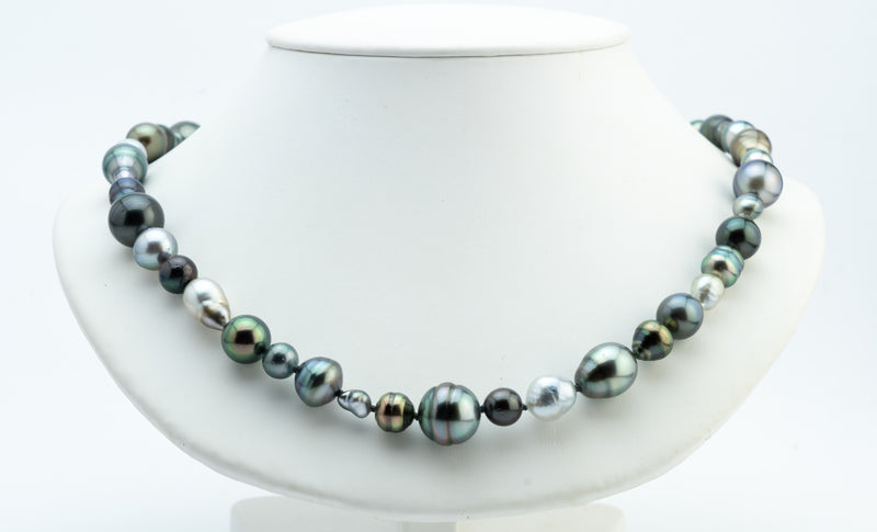 Kamoka Tahitian pearl harvest strand with baroque and circled pearls