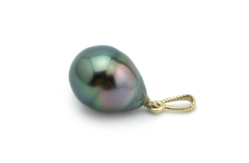 Green Rainbow Mermaid Tahitian Pearl Pendant