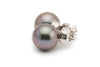 Light lavender mauve Tahitian pearl stud earrings 10mm