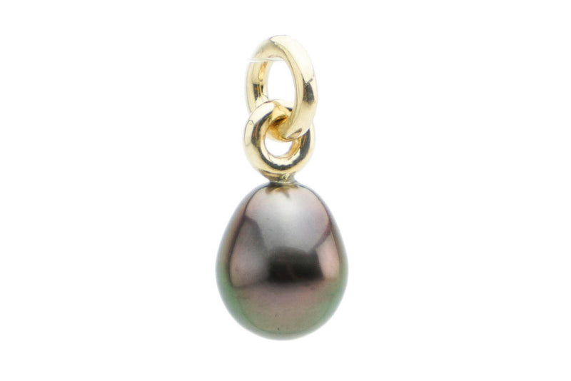 Flashy Pink Peacock Drop Tahitian Pearl Pendant