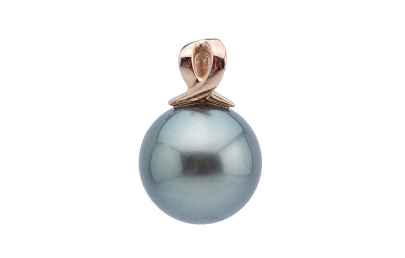 Seaside Tahitian Pearl Pendant on Rose Gold