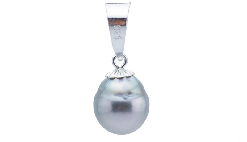 Silvery White Baroque Tahitian Pearl Pendant