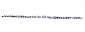 10.5 to 14mm round silver Tahitian pearl necklace 18 inches