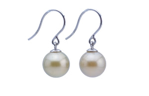 White Tahitian Pearl Sterling Silver Earrings
