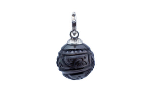 Carved 15.5mm Tribal Tahitian Pearl Pendant