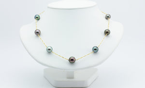 Heavenly Hues Tin Cup Tahitian Pearl Necklace