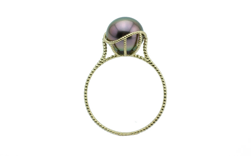 Pink Peacock Tahitian Pearl Mermaid Ring