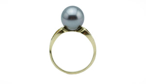 Silvery Blue Tahitian Pearl Ring