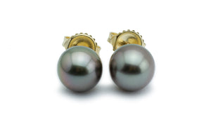 Silvery Mauve Tahitian Pearl Stud Earrings