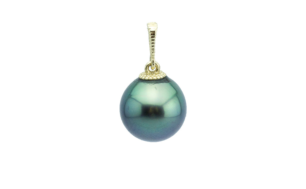 Green Mermaid Tahitian Pearl Pendant