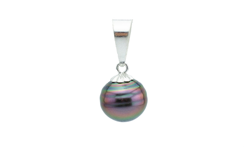 Bright Circled Tahitian Pearl Pendant