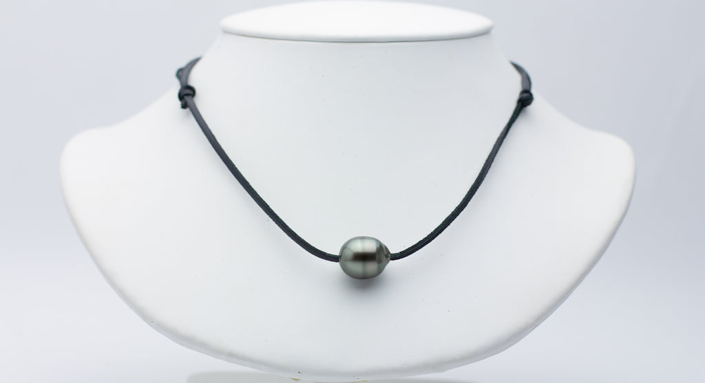 13mm Super Mana Barrel-Shaped Pearl Necklace