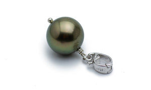Chocolate Bronze Tahitian Pearl Enhancer Pendant