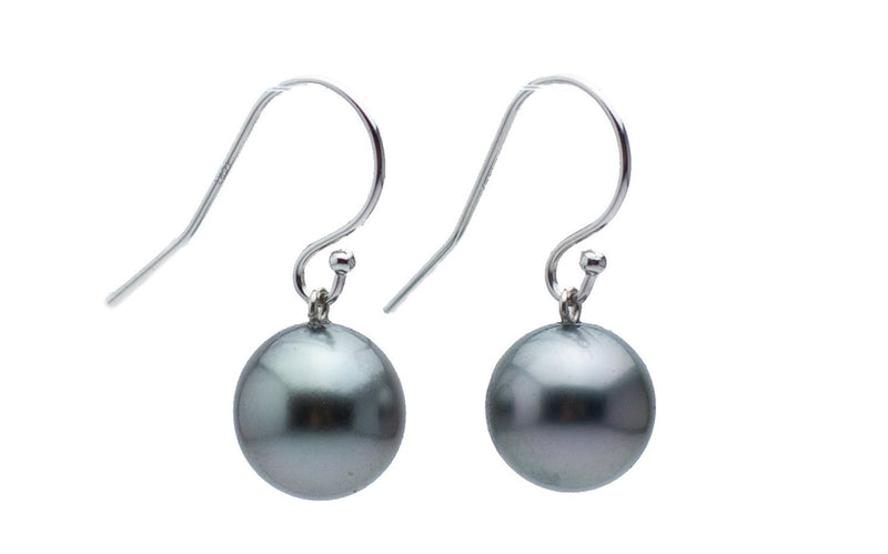 Silvery Glow Tahitian Pearl Dangle Earrings