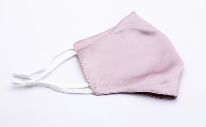 Champagne Pink Mulberry Silk Face Mask