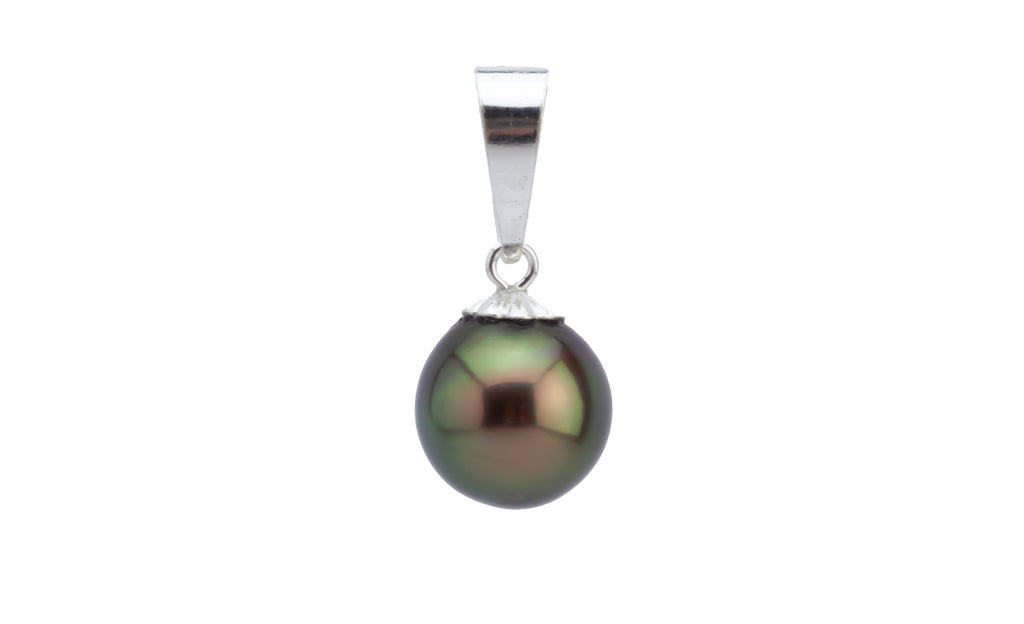 Chocolate Cherry Peacock Tahitian Pearl Pendant