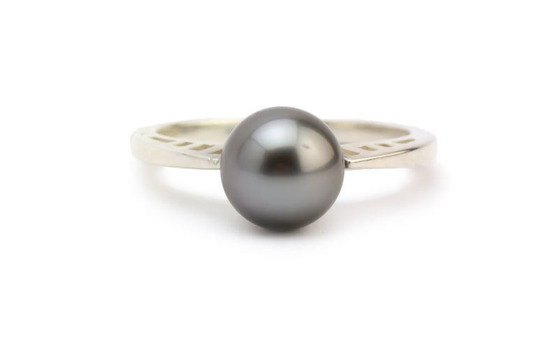 Silvery Lavender Tahitian Pearl Ring