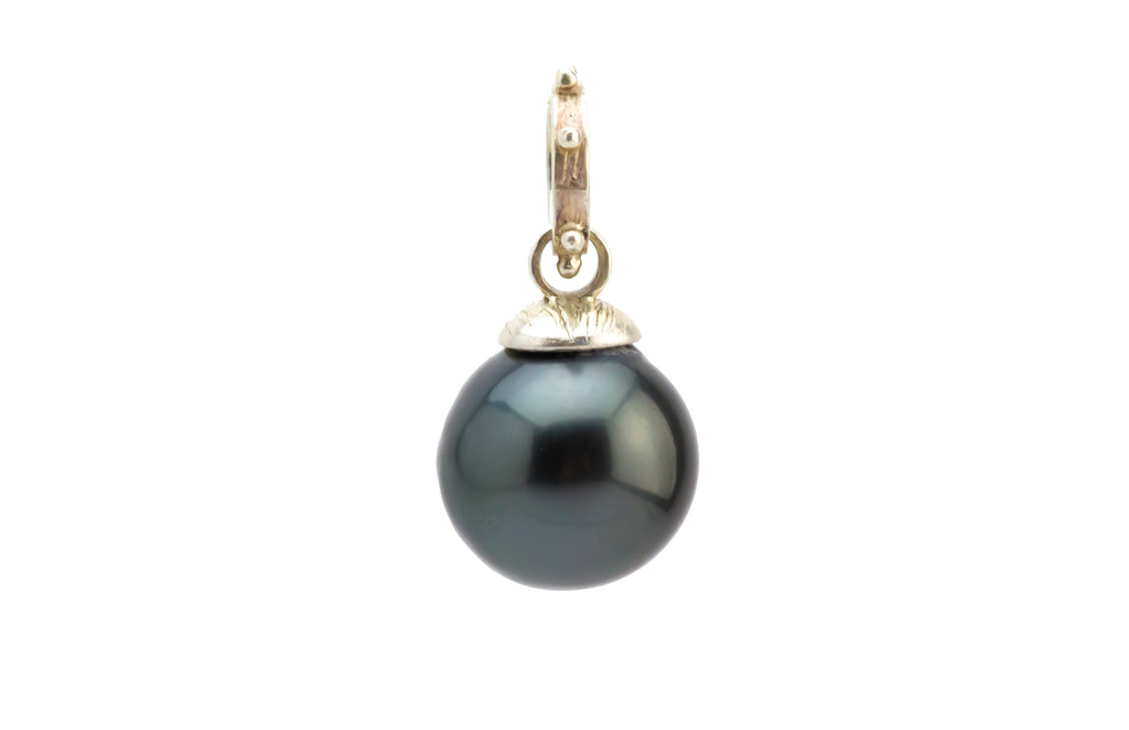 Midnight Peacock 12mm Tahitian Pearl Pendant