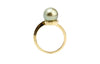 Light Golden Pistachio Tahitian Pearl Ring
