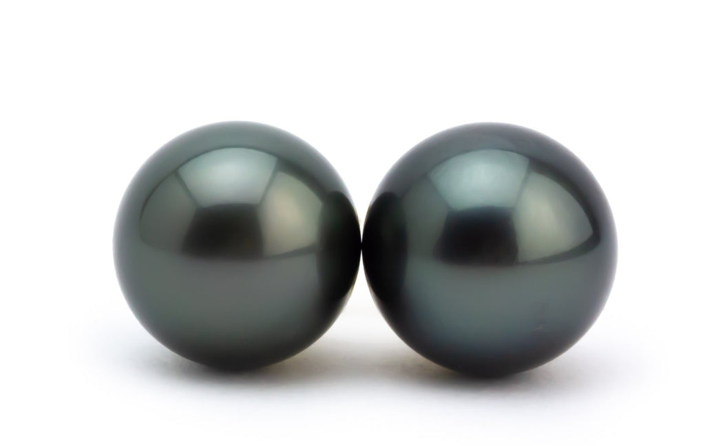 Black Beauty Tahitian Pearl 11.5mm Statement Stud Earrings