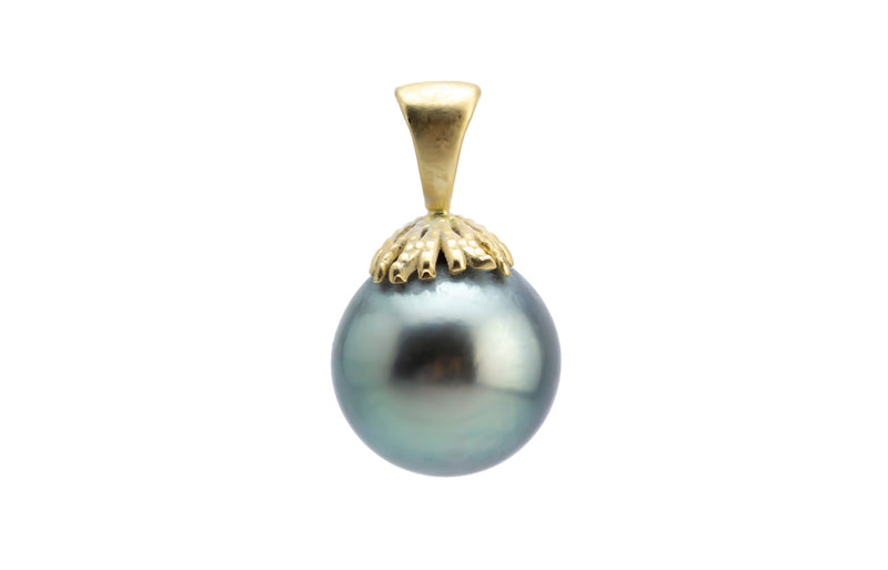 Light Green Tahitian Pearl Pendant