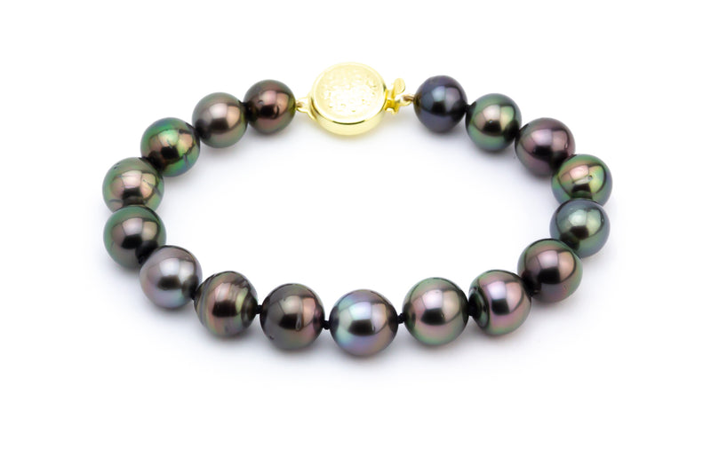 Bright Orchid Tahitian Pearl Bracelet
